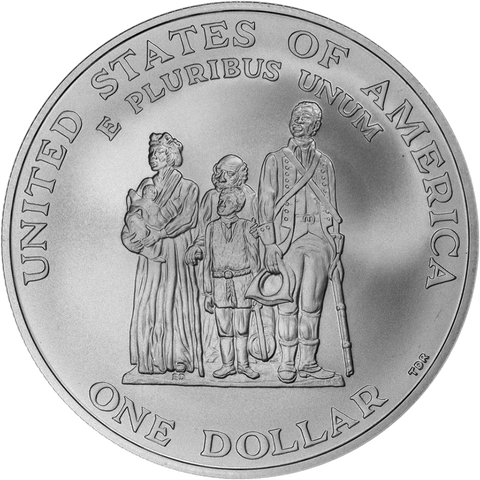 1998 Uncirculated Black Revolutionary War Patriots Commemorative Silver Dollar - Young Collector's Edition