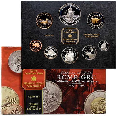 1998 Canada 8-Coin RCMP-GRC 125th Anniversary Proof Set - Gem Proof