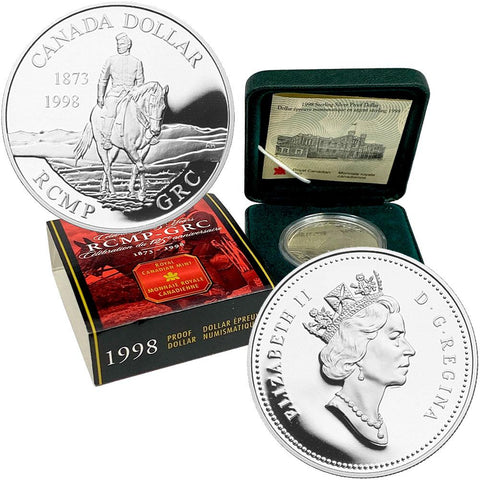 1998 Canada RCMP-GRC Proof Silver Dollar - Gem Proof in OGP