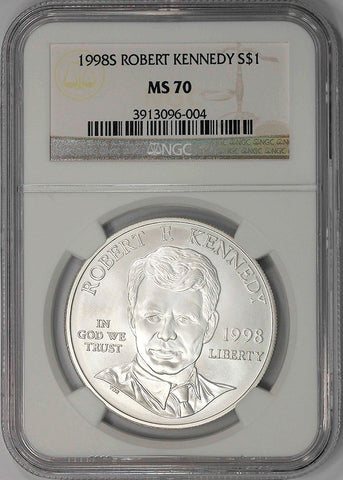 1998-S Robert Kennedy Commemorative Silver Dollar - NGC MS 70