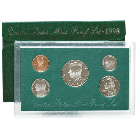 "1994 to 1998 ""Green Pack"" 5 Proof Set Deal"