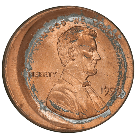 1999 Lincoln Cent - Major Broadstrike - Gem Brilliant Uncirculated