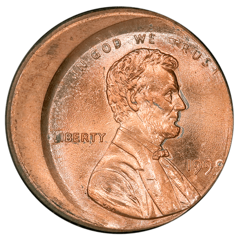1999 Lincoln Cent - Off-Center Broadstrike - Brilliant Uncirculated