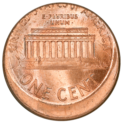 1999 Lincoln Cent - Off-Center Broadstrike - Choice Brilliant Uncirculated
