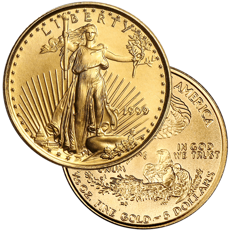 Back-Date $5 10th Ounce American Gold Eagles - Premium Quality BU - On Special