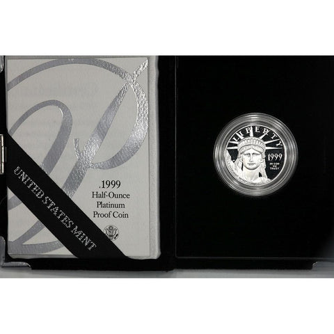 1999-W $50 1/2 oz Proof Platinum American Eagle in OGP with COA
