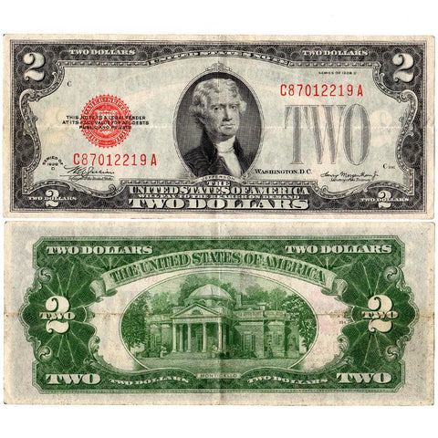 1928-D $2 Red Seal Legal Tender Note Fr. 1505 - Very Fine