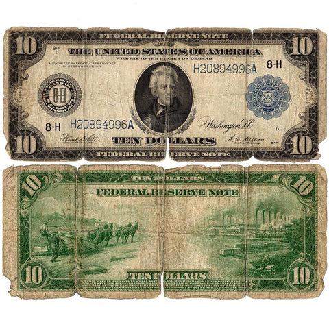 1914 $10 Federal Reserve Bank of St. Louis Fr. 935 - Good