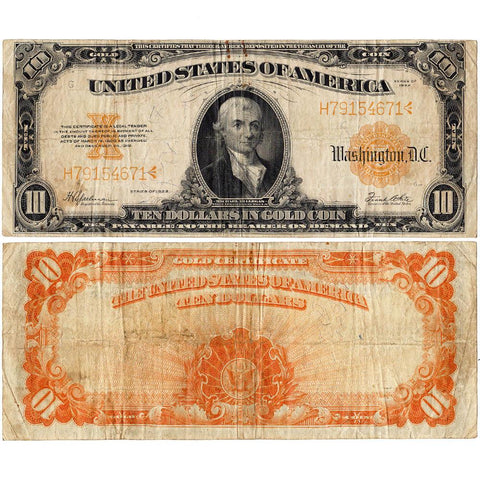 1922 $10 Gold Certificate Speelman/White (FR. 1173) ~ Very Fine