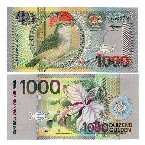 2000 Central Bank of Van Suriname 1000 Gulden P-151 - Unc.