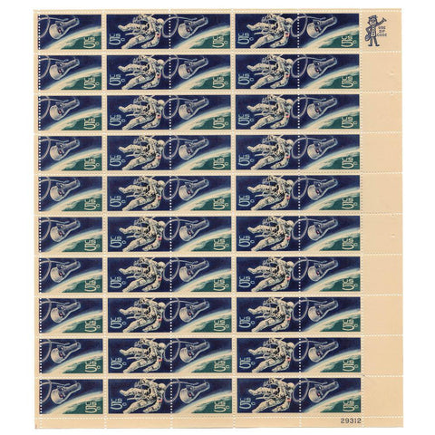 1967 5 Cent Scott# 1331/1332 Space Walking Astronaut/Gemini 4 Capsule Stamp Sheet