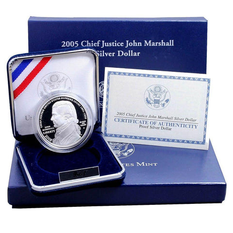 2005 Proof Chief Justice John Marshall Silver Dollar - Gem Proof in OGP w/ COA
