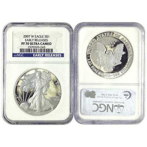 "2007-W Silver Eagle ""Early Release"" NGC - PF 70 Ultra Cameo"