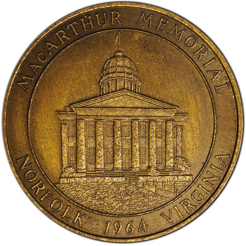1964 Douglas Macarthur Memorial In Norfolk, Virginia Bronze Medal