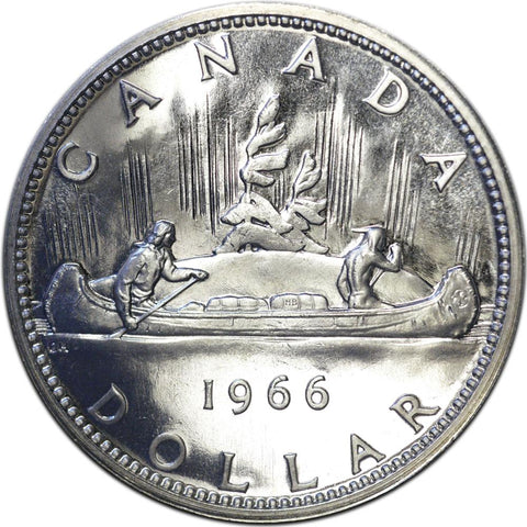 1966 Large Beads Canadian Silver Dollar - P.L.