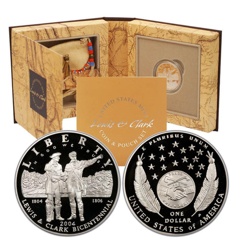 2004 Lewis & Clark Coin & Pouch Set in Original Government Packaging
