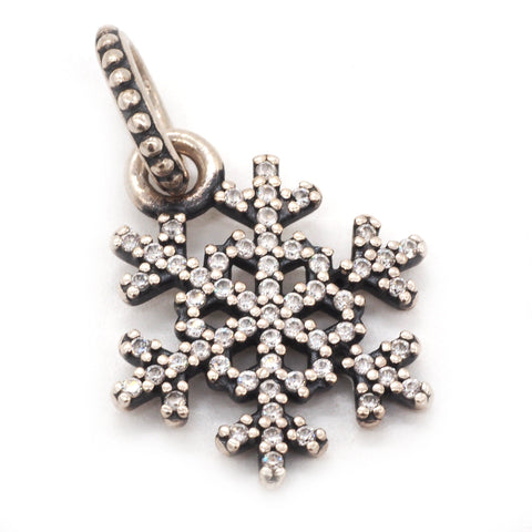 "Authentic Pandora Sterling Silver ""Winter Kiss"" Snowflake Pendant"