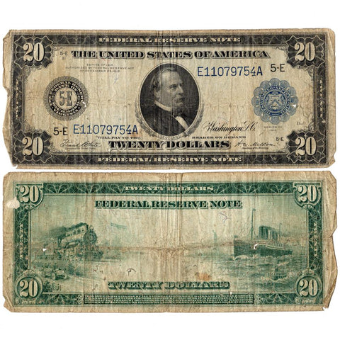 1914 $20 Federal Reserve Bank of Richmond Note Fr. 983-A - Very Good