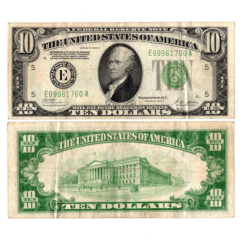 1928-B $10 Federal Reserve Richmond Note - Very Fine