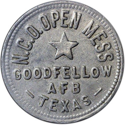 Goodfellow Air Force Base, Texas 50 Cent Trade Token