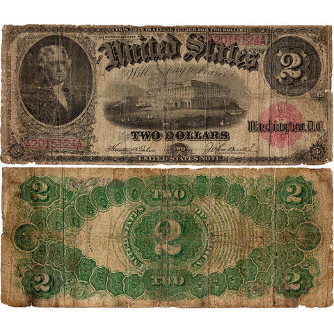1917 $2 Legal Tender Note Fr.57 - Very Good