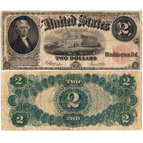 1917 $2 Legal Tender Note (Fr.60) Very Fine