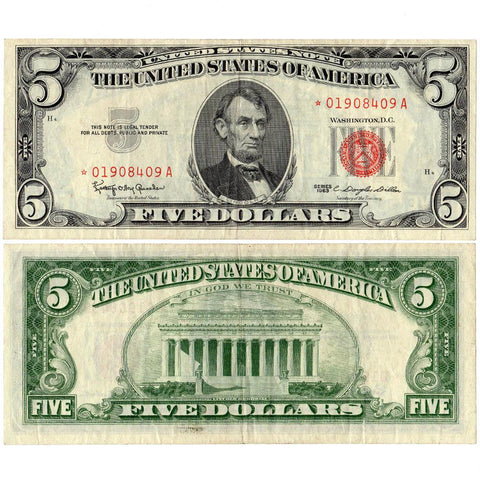 1963 $5 Legal Tender Star Notes Fr. 1536* - Crisp Very Fine