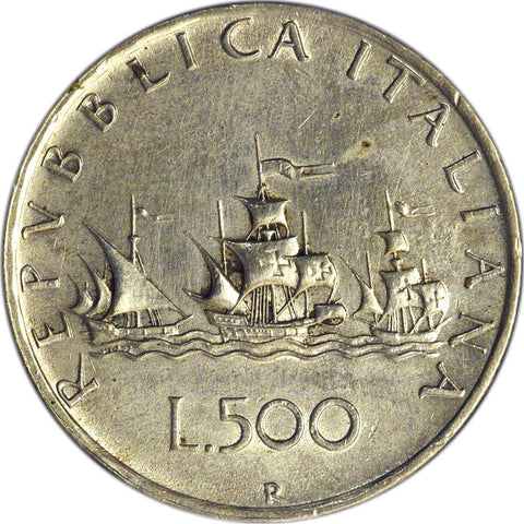 1960-R Italy 500 Lire KM. 98 - Extremely Fine