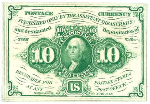 (1862-1863) 1st Issue 10¢ Fractional Fr. 1242 ~ Uncirculated