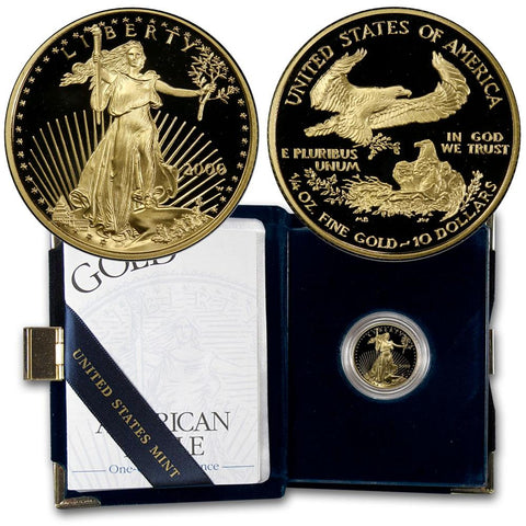 2000 $10 1/4 Oz Quarter Ounce Proof Gold Eagle - Gem Proof in OGP w/ COA