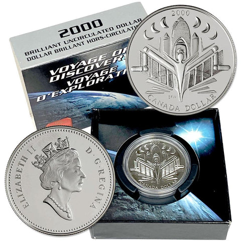 2000 Canada Silver Voyage of Discover Dollar - Gem Uncirculated in OGP