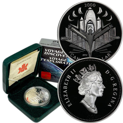 2000 Canada Silver Voyage of Discover Proof Dollar - Gem Proof in OGP