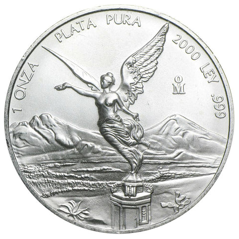 "2000 Mexico 1 Onza ""Libertad"" 1 oz Silver KM.639 - Gem Brilliant Uncirculated"