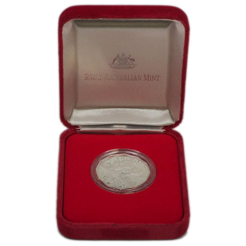 "2000 RAM ""Royal Visit"" 50 Cent Silver Proof Coin - PQBU in OGP"