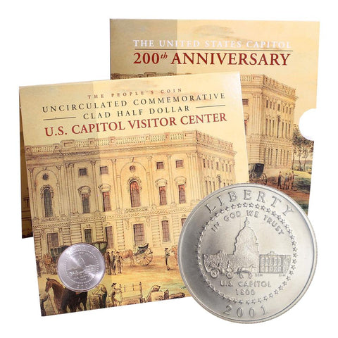 2001 U.S. Capitol 200th Anniversary Uncirculated Clad Half Dollar Set