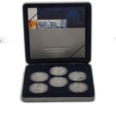 "2001 Australia ""Masterpieces in Silver"" Proof Set - Gem Proof in OGP w/ COA"