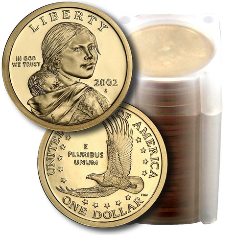 25-Coin Roll of 2002-S Proof Sacagawea Dollars - Directly From Proof Sets