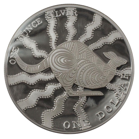 2002 $1 Australian Silver Kangaroo Proof Coin - Gem Proof in OGP