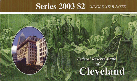 2003 $2 Federal Reserve Star Note Cleveland District - D00007461*