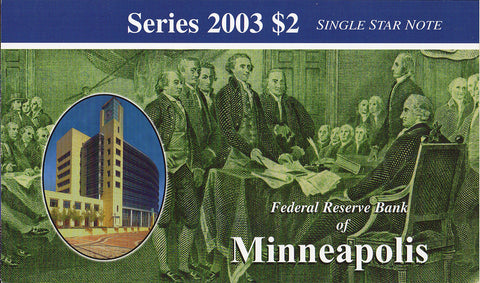 2003 $2 Federal Reserve Star Note Minneapolis District - I00007809*