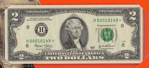 2003 $2 Federal Reserve Star Note St. Louis District - H0010149*