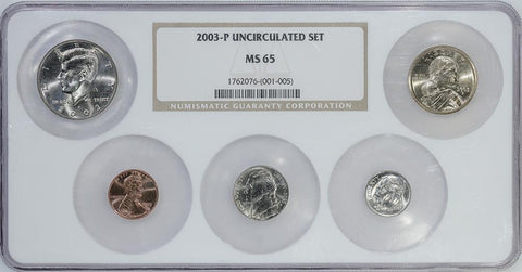 20-Coin 2003 U.S. Mint Set in NGC MS 65