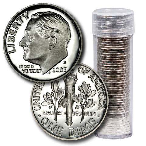 2015 S Roosevelt Dime ~ Mint Clad Proof ~ U.S Coin in Plastic Capsule from Set