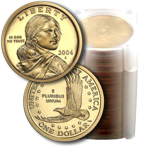 25-Coin Roll of 2004-S Proof Sacagawea Dollars - Directly From Proof Sets