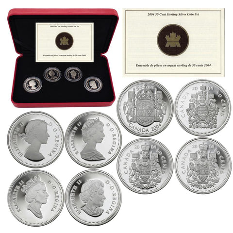 2004 Royal Canadian Mint 50 Cent Sterling Silver Coin Set