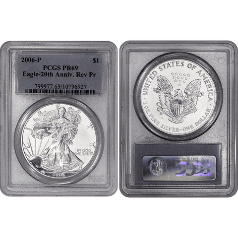 2006-P Reverse Proof American Silver Eagles in PCGS PR 69