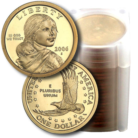 25-Coin Roll of 2006-S Proof Sacagawea Dollars - Directly From Proof Sets