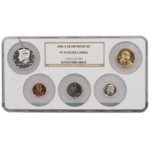 2006-S Silver Proof Set - NGC PF 70 Ultra Cameo
