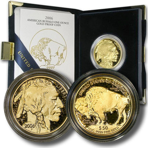 2006-W Proof $50 .9999 One Ounce Gold Buffalo in OGP