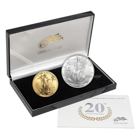 2006-W Burnished American Gold & Silver Eagle 20th Anniversary Set